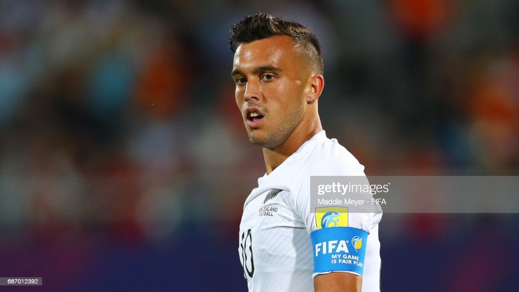 Clayton Lewis of New Zealand looks on during the FIFA U-20 World Cup Korea Republic 2017 group E match between Vietnam and New Zealand at Cheonan Baekseok Stadium on May 22, 2017 in Cheonan, South Korea.