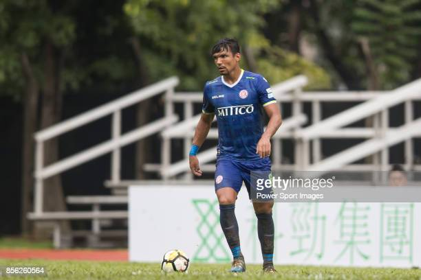Clayton Michel Afonso of BC Rangers in action during the Hong Kong Premier League Week 4 match between BC Rangers vs Sun Bus Yuen Long at the Sham...