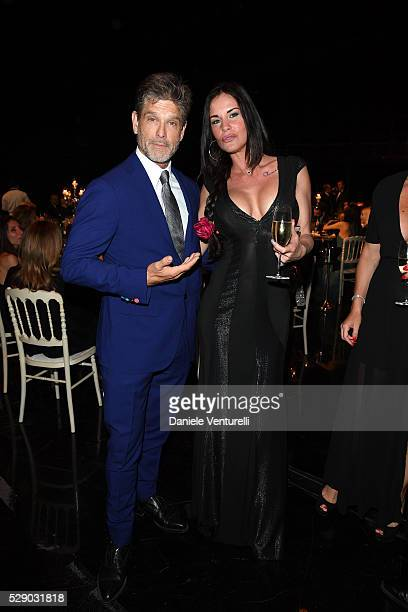 Clayton Norcross and Antonella Mosetti attend AMBI GALA in honor of Antonio Banderas and Jonathan Rhys Meyers on May 07 2016 in Rome