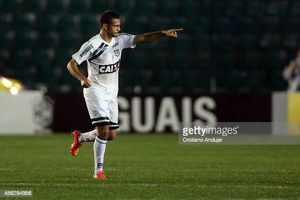 Clayton of Figueirense celebrate his goal first of Figueirense during a match between Figueirense and Palmeiras as part of Campeonato Brasileiro 2014...