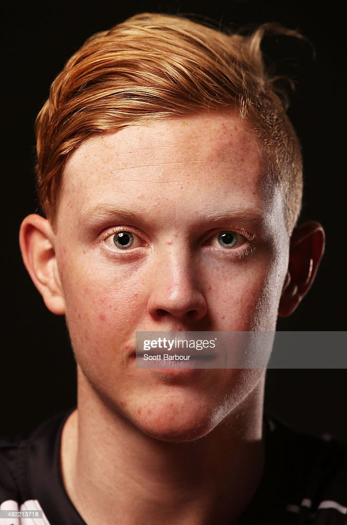Clayton Oliver poses for a portrait during the 2015 AFL Draft Combine at Etihad Stadium on October 10, 2015 in Melbourne, Australia.
