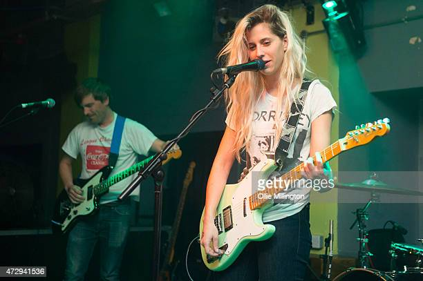 Clayton Parker Alicia Bognanno of Bully perform onstage at O2 Academy Leicester on May 10 2015 in Leicester United Kingdom