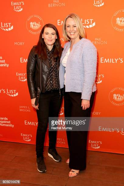 Clea DuVall and EMILY's List President Stephanie Schriock attend EMILY's List's 'Resist Run Win' PreOscars Brunch on February 27 2018 in Los Angeles...