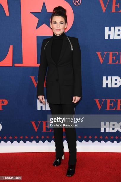 "Clea DuVall attends the ""Veep"" Season 7 premiere at Alice Tully Hall, Lincoln Center on March 26, 2019 in New York City."