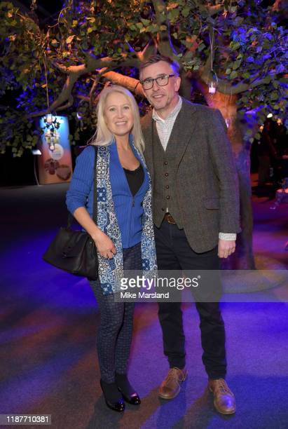 Clea Newman and Steve Coogan attend the SeriousFun Children's Network Campfire Bash on November 14 2019 in London England