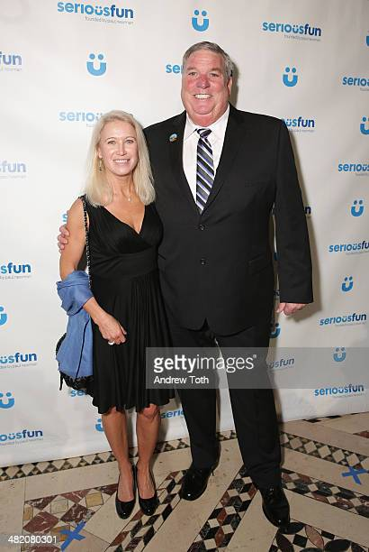 Clea Newman and Tim Rose attend the Seriousfun Children's Network 2014 New York City gala at Cipriani 42nd Street on April 2 2014 in New York City