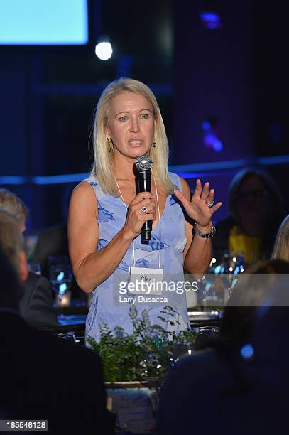 Clea Newman attends SeriousFun Children's Network event honoring Liz Robbins with celebrity guests at Pier Sixty at Chelsea Piers on April 4, 2013 in...