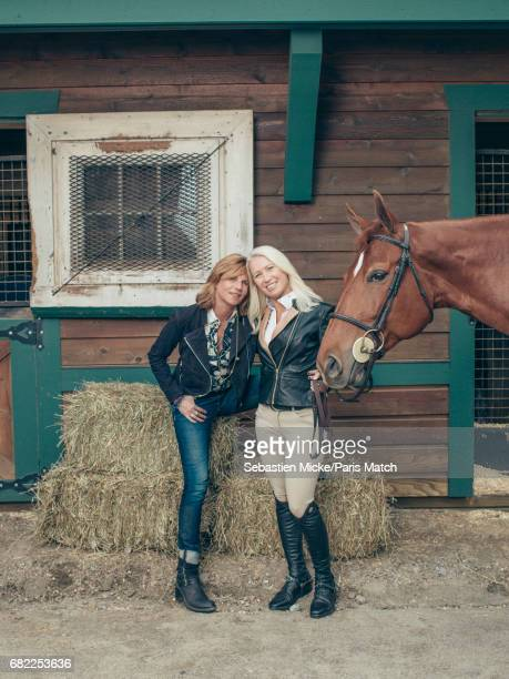Clea Newman is photographed with Virginie CouperieEiffel for Paris Match on April 24 2017 in Salem Connecticut