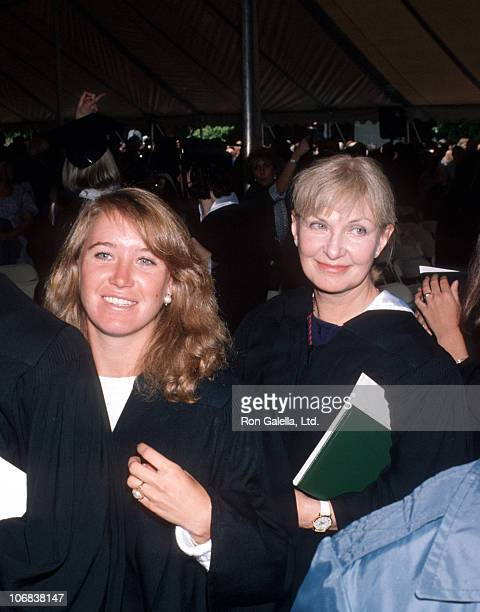 Clea Olivia Newman and Joanne Woodward during Class of 1990 Graduation Keynote Address Delivered by Paul Newman at Sarah Lawrence College at Sarah...