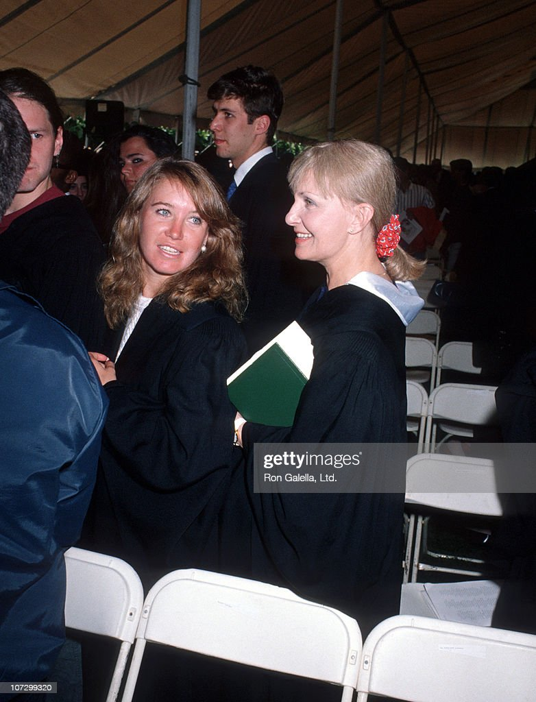 Clea Olivia Newman and Joanne Woodward during Class of 1990 Graduation Keynote Address Delivered by Paul Newman at Sarah Lawrence College at Sarah Lawrence College in Bronxville, New York, United States.