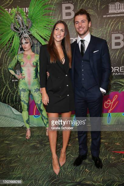 CleaLacy Juhn and her boyfriend Riccardo Basile during the Place To B Berlinale Party Garden of Eden at Borchardt Restaurant on February 22 2020 in...