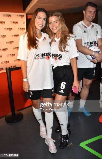 CleaLacy Juhn and Ina Aogo during the Kiss FM Kiss Cup at MaxSchmelingHalle on October 9 2019 in Berlin Germany