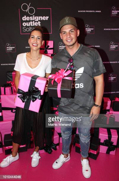 CleaLacy Juhn and Pietro Lombardi at the Late Night Shopping at Designer Outlet Soltau on August 3 2018 in Soltau Germany