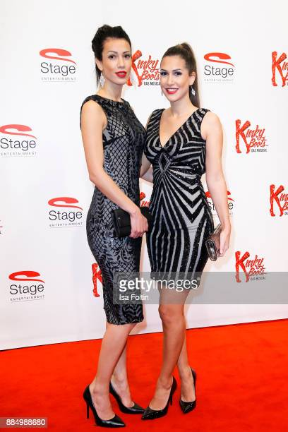 CleaLacy Juhn winner of the TV Show 'Der bachelor' and her sister Tamara Brunner attend the 'Kinky Boots' Musical Premiere at Stage Operettenhaus on...