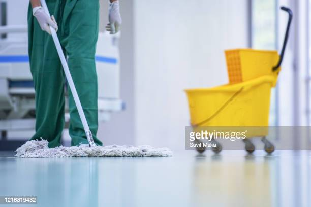 clean and sanitize, hospital cleaning - cleaner stock pictures, royalty-free photos & images