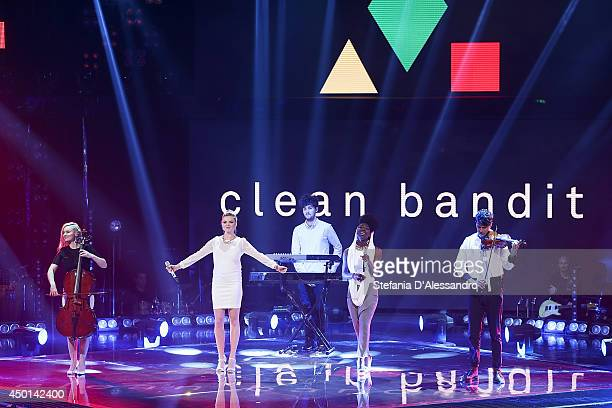 Clean Bandit perform during 'The Voice Of Italy' Tv Show Final on June 5 2014 in Milan Italy