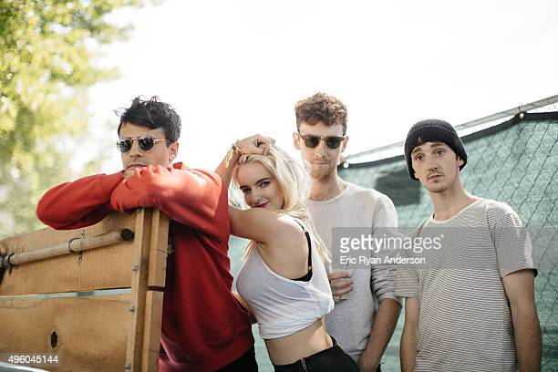 Clean Bandit poses for a portrait at the Governors Ball 2015 Music Festival for Billboard Magazine on June 6 2015 in New York City