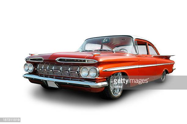 clean cruiser - 1959 chevrolet impala - hot rod car stock photos and pictures