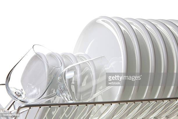 clean dishes - glas serviesgoed stockfoto's en -beelden