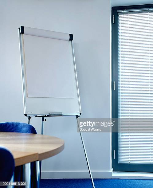 Clean flipchart in conference room