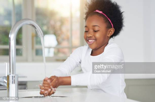 clean hands is a must! - washing hands stock pictures, royalty-free photos & images