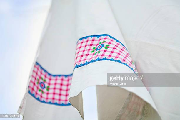 Clean laundry on clothesline