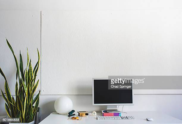 Clean, simple and modern desk space