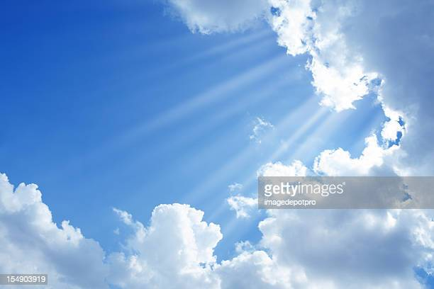 clean sky and sun light - elysium stock photos and pictures
