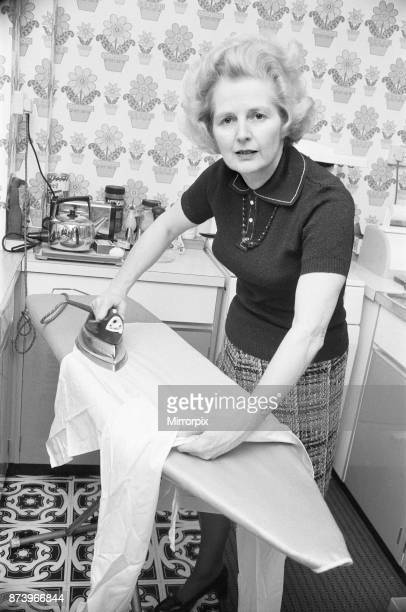 Clean sweep for Thatcher, 2nd February 1975, Margaret Thatcher, who is challenging for the leadership of the Conservative party, seen here doing...