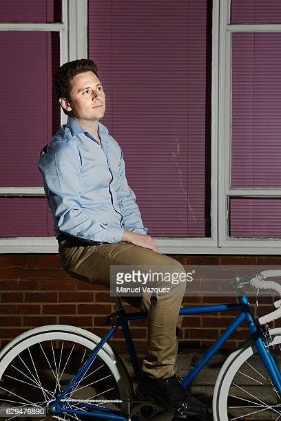 Clean technology company Pavegen founder Laurence KemballCook is photographed for El Pais on October 19 2016 in London England