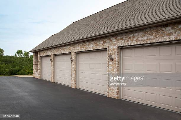 Clean Tidy Brick Four Stall Garage Attached to House