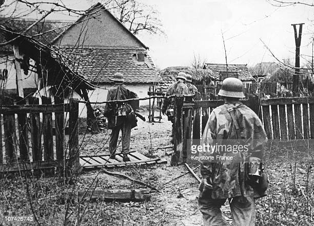 Clean Up Of A Village By The German Grenadiers In Bosnia On December 30Th 1943