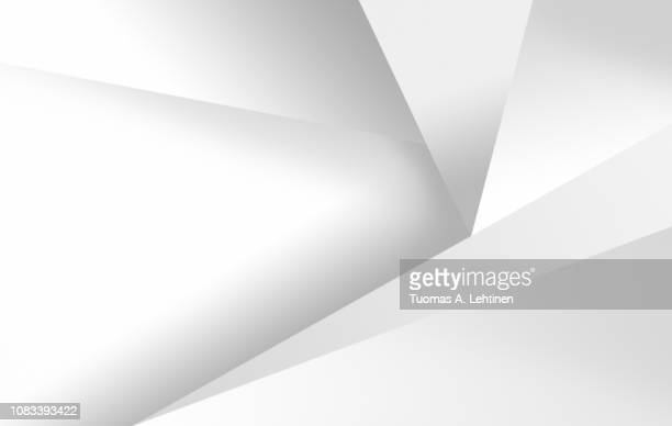 clean white and light gray abstract background with geometric shapes. - geometrische form stock-fotos und bilder