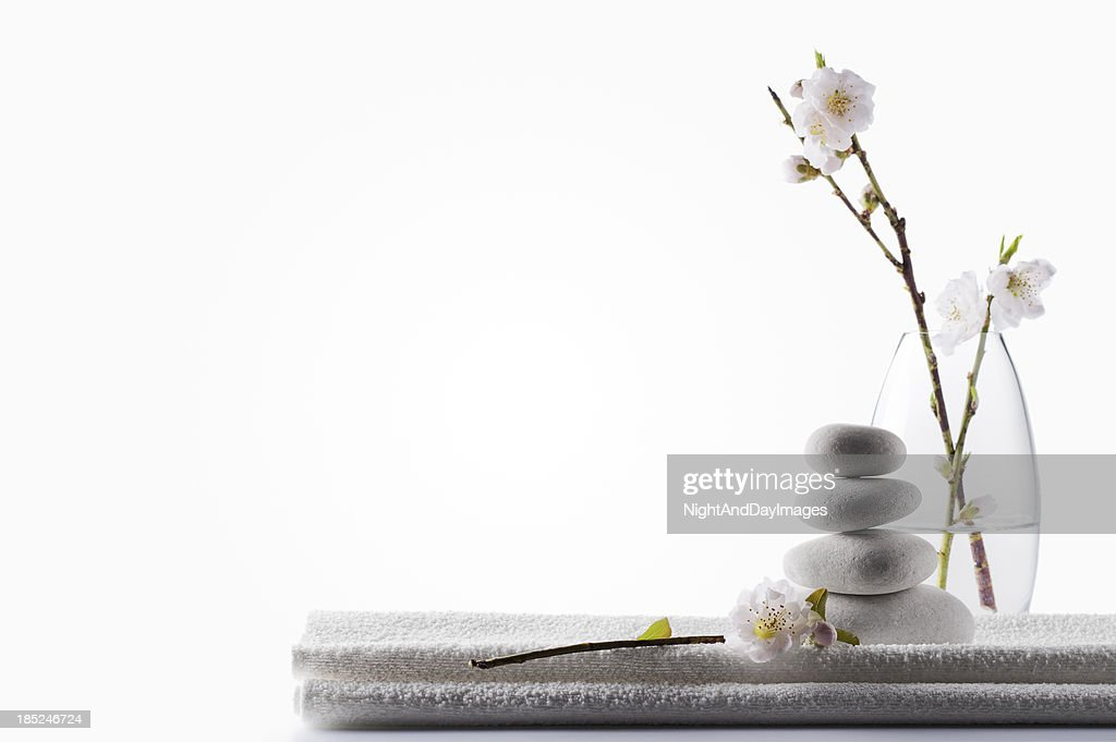 clean white spa background stock photo getty images
