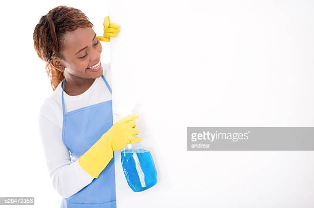 Cleaner with a spray bottle