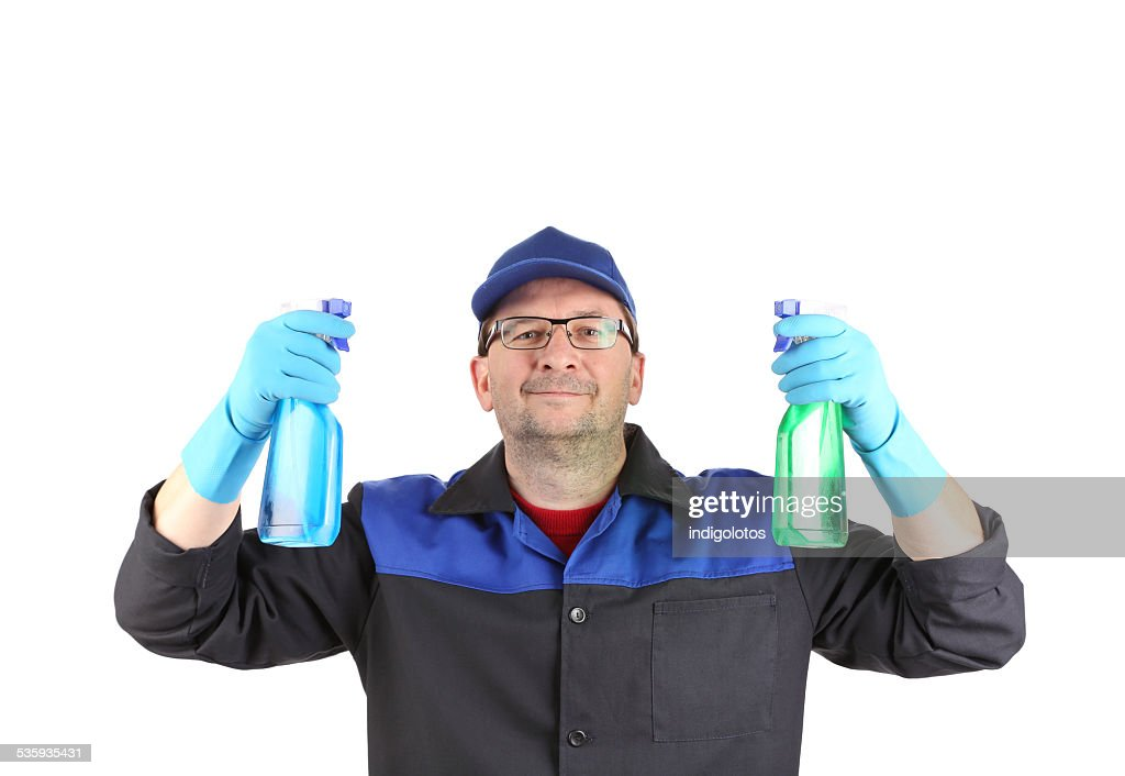 Cleaner with detergents. : Stock Photo