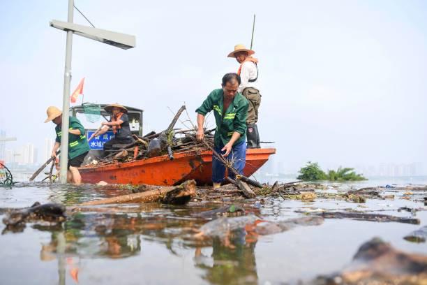 CHN: Water Level Of Xiangjiang River In Changsha Declines