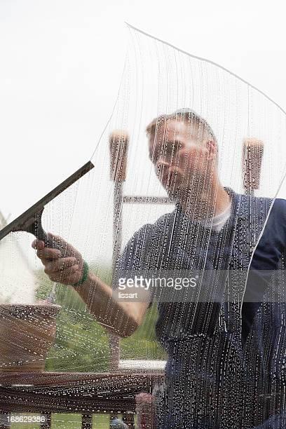 limpando uma janela - virada ao contrário - fotografias e filmes do acervo