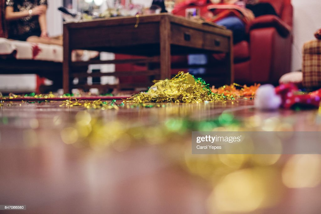 cleaning after the party : Stock Photo