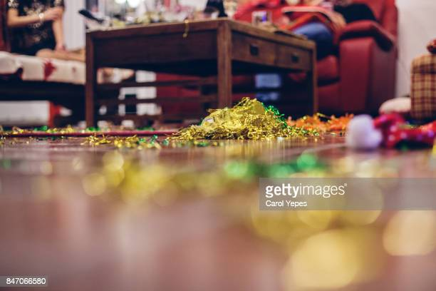 cleaning after the party - cleaning after party stock pictures, royalty-free photos & images