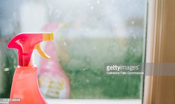 cleaning agent - spraying stock pictures, royalty-free photos & images