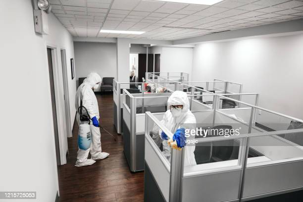 cleaning and disinfecting office - clorox stock pictures, royalty-free photos & images