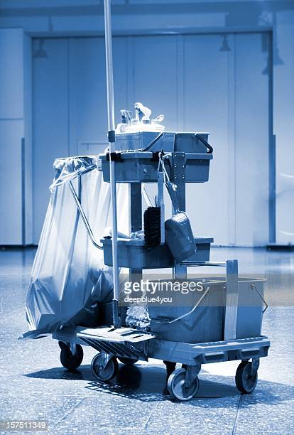 Cleaning cart and accessories