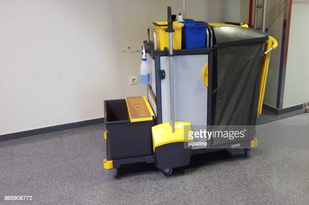 Cleaning cart in a hospital