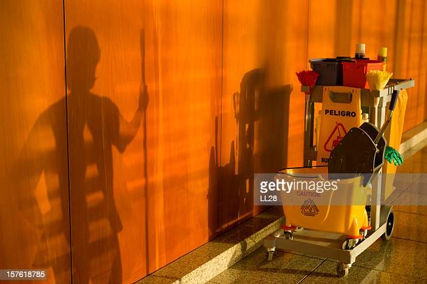 cleaning cart - commercial cleaning stock photos and pictures
