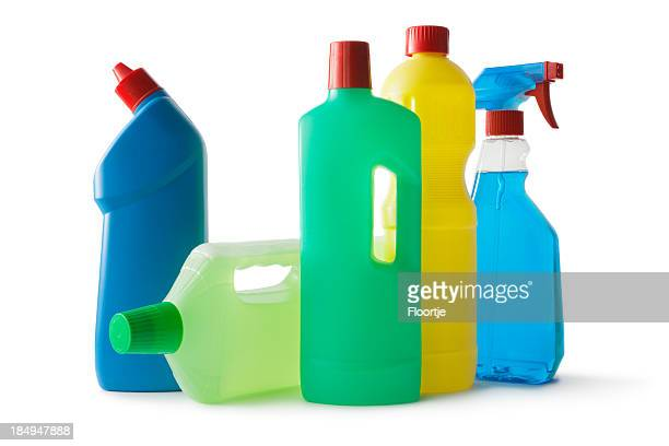 Cleaning: Cleaning Products Isolated on White Background
