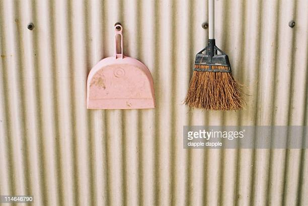 cleaning equipment - dustpan and brush stock pictures, royalty-free photos & images