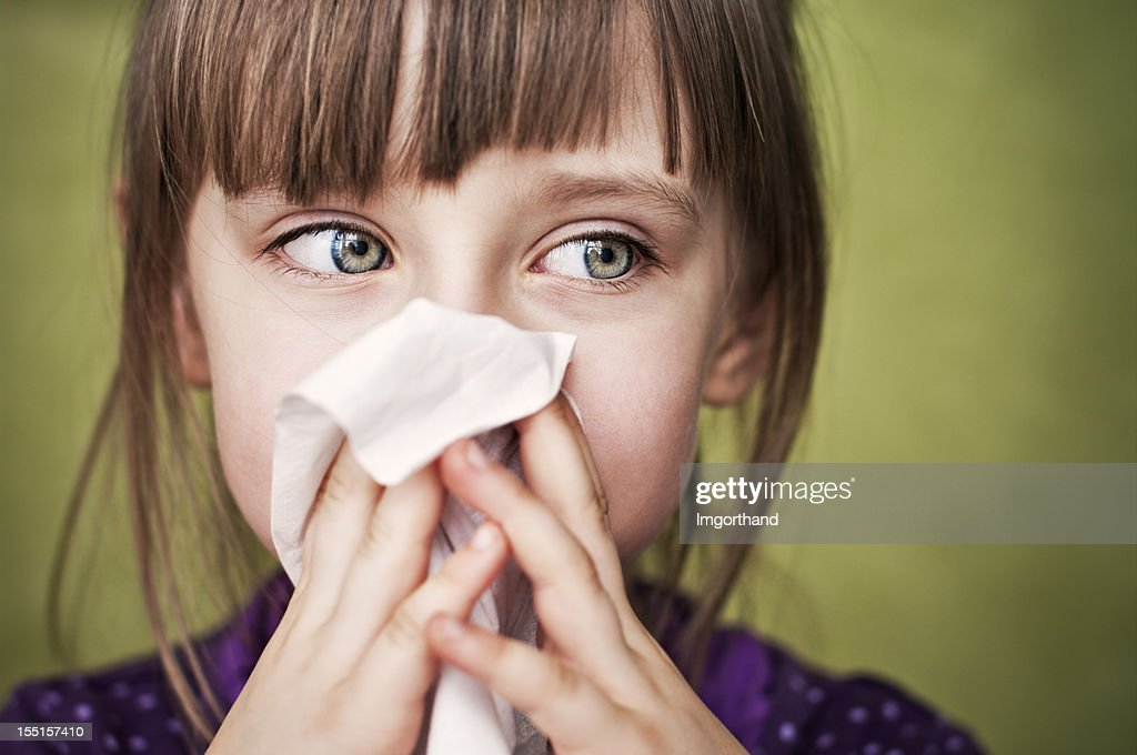 Cleaning nose : Stock Photo