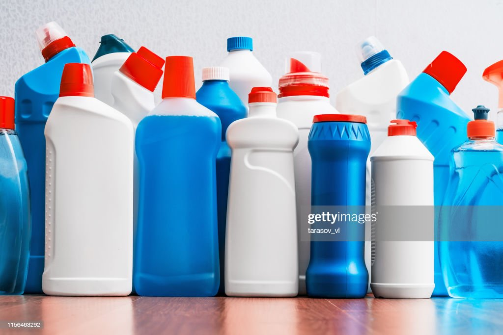 cleaning products. housework. spring cleaning. : Stock Photo