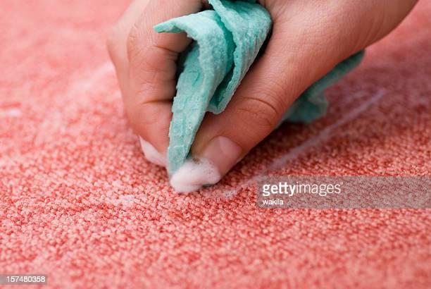 クリーニングレッドカーペット-斑点 entfernen - カーペット ストックフォトと画像
